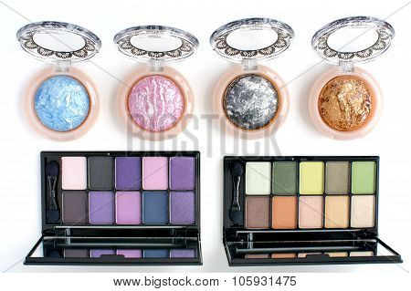 pink and other colour eye shadow kit