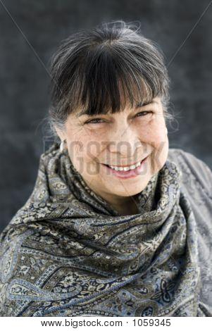 Hispanic Matriarch Smiling