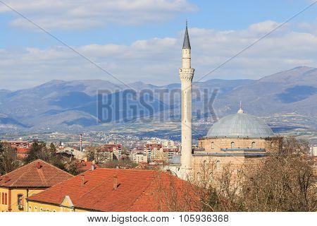 Mustafa Pasha mosque in Skopje the capital of Macedonia poster