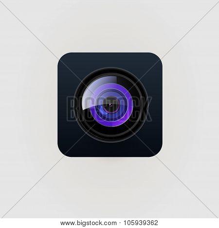 Vector photo camera lens illustration