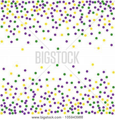 Mardi Gras dot background. Engraving illustration.Seamless pattern.
