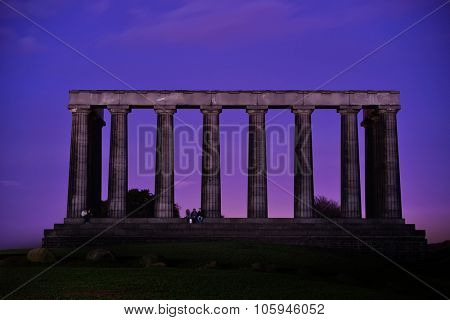 Calton Hill in Edinburgh, United Kingdom. poster