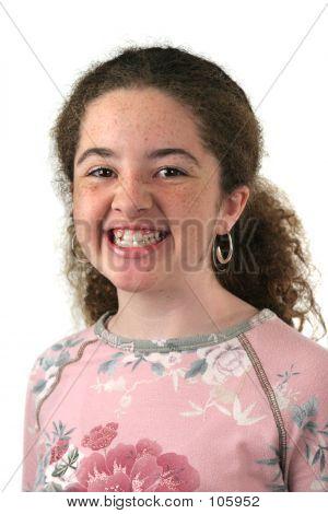 Teen Girl Before Braces
