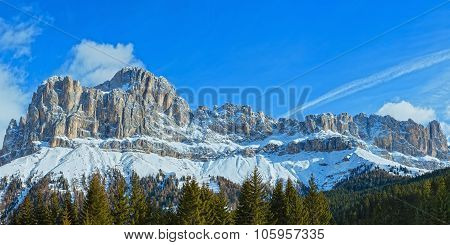 Winter Rocky Mountain Panorama (great Dolomites Road).