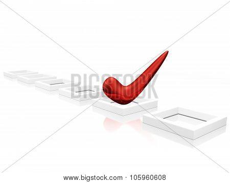 Red Tick Mark On Checklist