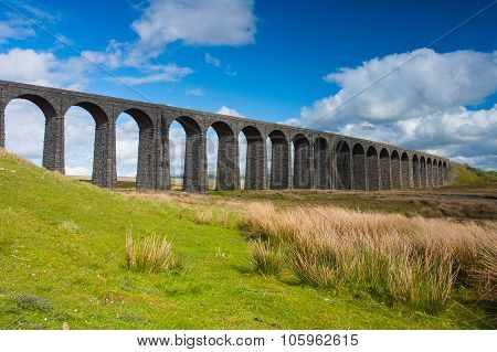 Famous Ribblehead Viaduct in Yorkshire Dales National ParkGreat Britain poster