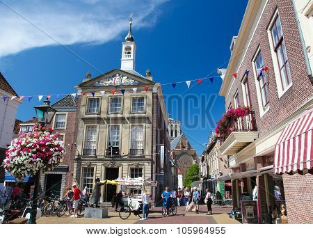 Old Town Hall Of Den Briel Or Brielle In The Netherlands