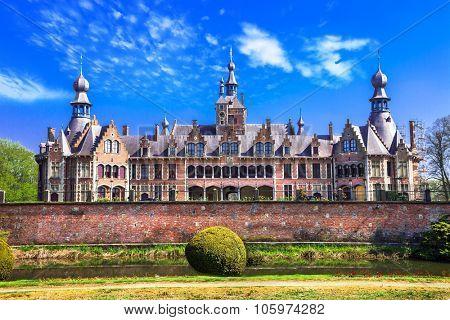 fairytale castles of Belgium series- Ooidonk, East Flanders poster