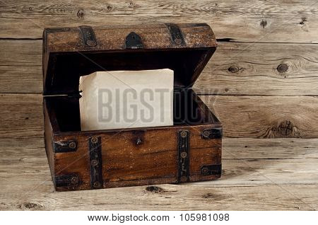 Open Antique Trunk