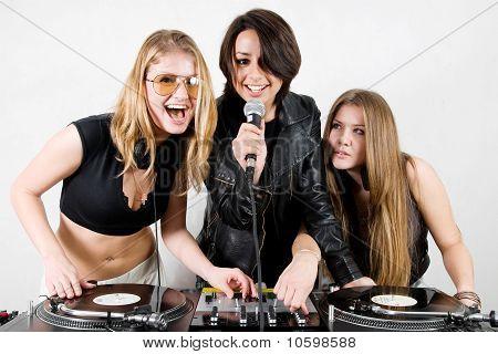 Female Djs And A Singer