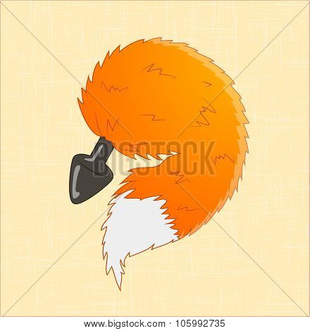 Unisex Wild Fox Tail Plug, Sm, Bdsm, Sextoys
