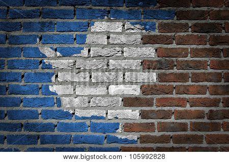 Dark Brick Wall - Antarctica