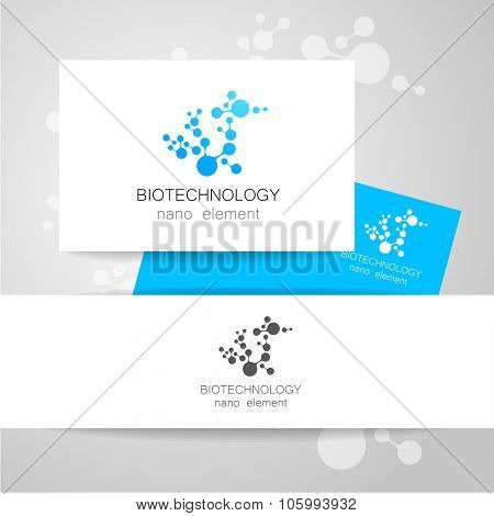 Biotechnology. Vector logo template. poster