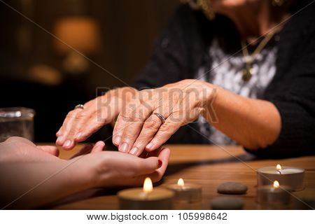 Close-up Of Spiritualistic Seance