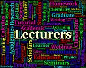 Lecturers Word Meaning Address Speeches And Presentations poster