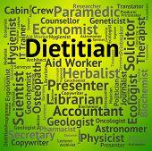 Dietitian Job Representing Hiring Advising And Trainer poster
