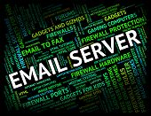 Email Server Indicating Computer Servers And Correspondence poster