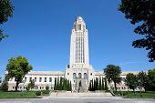 Nebraska State Capitol building located in Lincoln Nebraska USA. poster