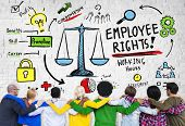 Employee Rights Employment Equality People Friendship Huddle Concept poster