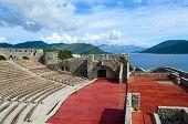 The fortress Kanli Kula (Bloody Tower) on the background of sea Herceg Novi Montenegro poster