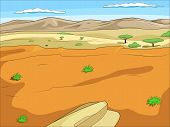 Educational game for children African savannah background cartoon colorful vector illustration poster