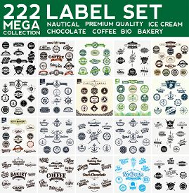 Mega Collection Label Set, Nautical,Premium Collection, Bakery, Ice Cream, Bio,  Chocolate, Coffee