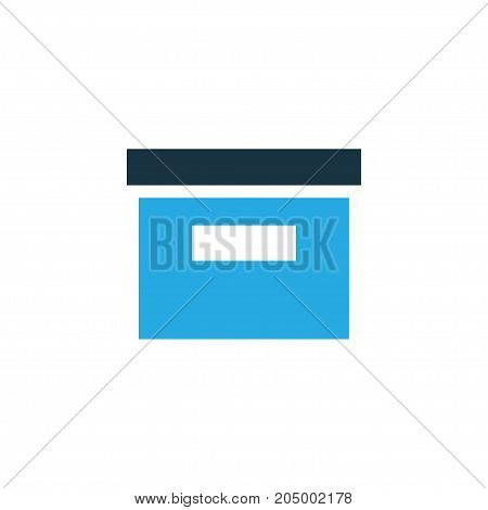 Premium Quality Isolated Storage Element In Trendy Style.  Archive Colorful Icon Symbol.
