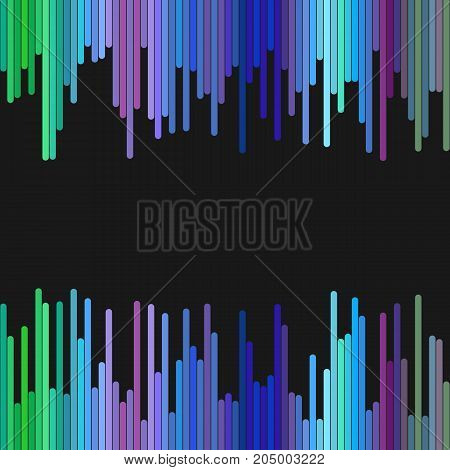 Modern geometric background design from vertical rounded stripes - abstract vector graphic design