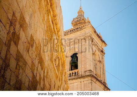 Spire in the medieval citadel of Gozo