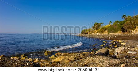 Beach. Mediterranean sea. Costa del Sol, Andalusia, Spain.