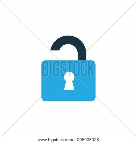 Premium Quality Isolated Open Element In Trendy Style.  Unlock Colorful Icon Symbol.