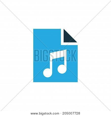 Premium Quality Isolated Playlist Element In Trendy Style.  Song List Colorful Icon Symbol.