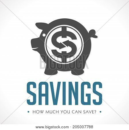 Savings pig - save money business concept