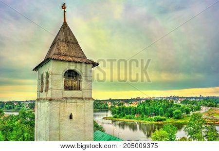 View of the Kotorosl River from the Transfiguration Monastery in Yaroslavl, the Golden Ring of Russia