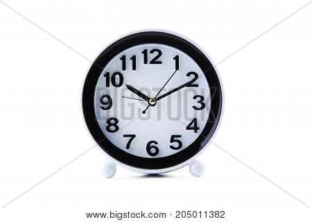 Black Clock Isolated On A White Background