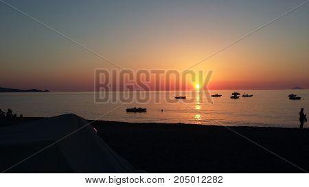 Tramonto a Gioiosa Marea in provincia di Messina (Sicilia)