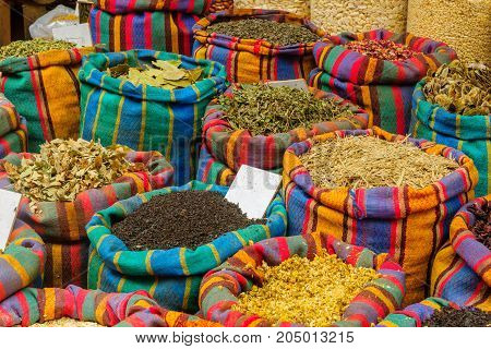 Spices On Sale In The Market, In Acre (akko)