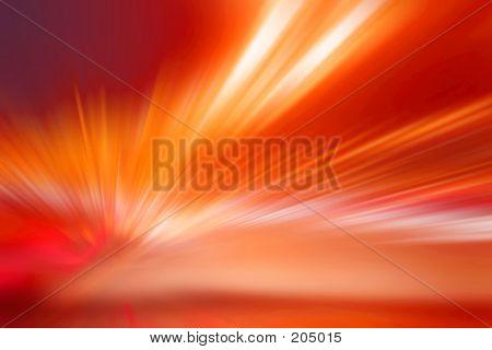 Abstract Orange Streaks