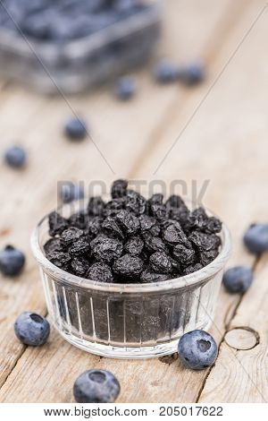Dried Blueberries Close-up Shot, Selective Focus