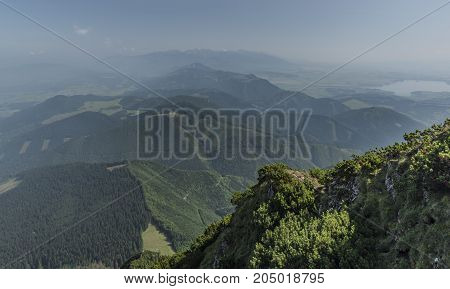Velky Choc hill in north Slovakia in summer sunny day