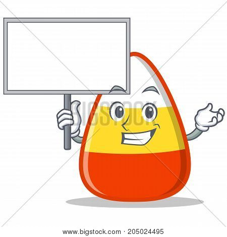 Bring board candy corn character cartoon vector illustration