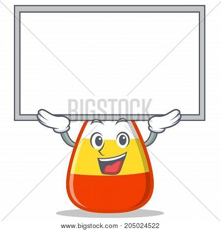 Up board candy corn character cartoon vector illustration