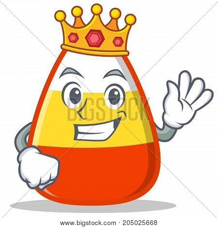 King candy corn character cartoon vector illustration