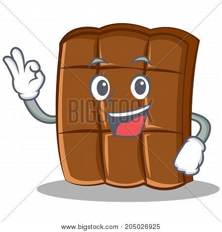 Okay chocolate character cartoon style vector illustration