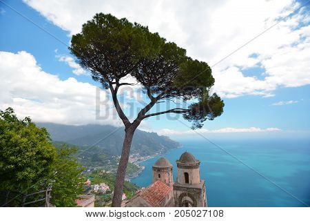 Ravelo Resort City At Amalfi Coast In Southern Italy
