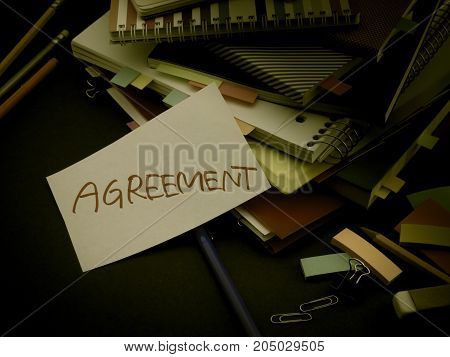 Somebody Left The Message On Your Working Desk; Agreement