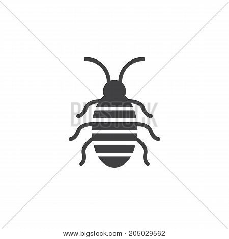 Cockroach icon vector, filled flat sign, solid pictogram isolated on white. Halloween holiday Symbol, logo illustration