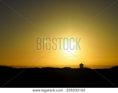 The Sun Set At The Coronado Beach In San Diego In June