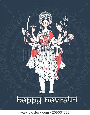 Greeting Card Navratri