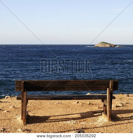 Mediterranean coast landscape in Bandol French riviera France